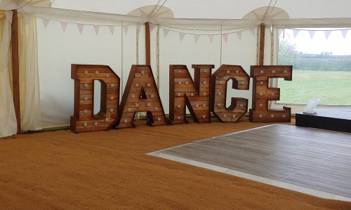Our rustic Big Letters - DANCE
