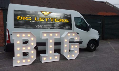BIG letters next to the Big Letters van