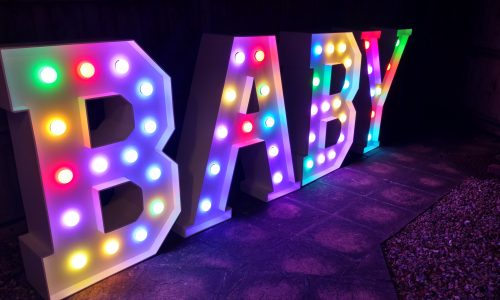 Our Big Letters - BABY - in party mode