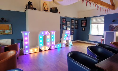 Big Letters spelling out Lola